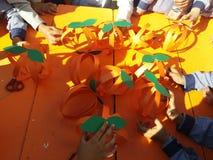 橙色日 免版税图库摄影