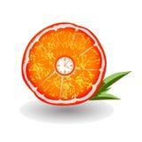 橙色时钟 库存照片