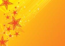 橙色星形背景 免版税库存照片