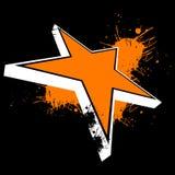 橙色星形 皇族释放例证