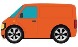 橙色有篷货车 向量例证
