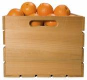 橙色条板箱 库存照片