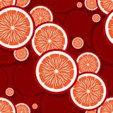 橙色果子切片图表的无缝的样式 免版税图库摄影