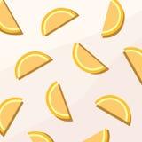橙色果子平的数字墙纸 向量例证