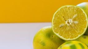 橙色果子有橙色白色背景 库存照片