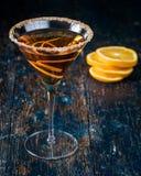 橙色柑橘马蒂尼鸡尾酒 免版税库存图片