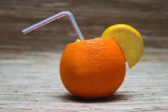 橙色柠檬汁鸡尾酒  免版税图库摄影