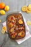 橙色柠檬鸡 免版税图库摄影