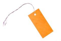 橙色标签 免版税库存照片