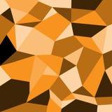 橙色树荫正方形多角形传染媒介样式背景 向量例证