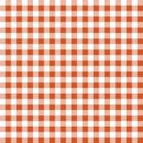橙色格子花呢披肩无缝的纹理  免版税库存照片