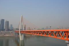 橙色桥梁在Chongquin,中国 免版税图库摄影