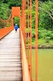 橙色桥梁洞连接点 免版税图库摄影