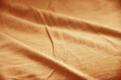 橙色棉织物纹理  库存照片