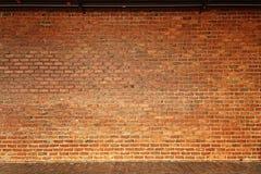 橙色概略的砖墙纹理正面图, 免版税库存图片