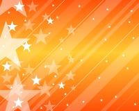 橙色模式星形 免版税图库摄影