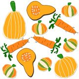 橙色模式蔬菜 库存照片