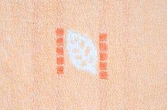橙色毛巾 免版税库存照片