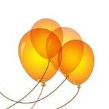 橙色气球传染媒介例证 免版税图库摄影
