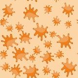 橙色污点动画片无缝的样式619 库存例证