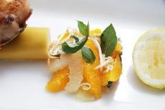 橙色沙拉 库存图片