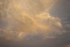 橙色沙漠云彩 免版税库存照片