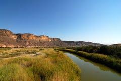 橙色河全景,南非,纳米比亚 免版税库存照片