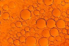 橙色泡影纹理 库存照片