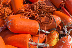 橙色浮体 免版税库存图片