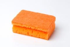 橙色海绵 免版税库存图片