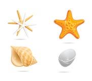橙色海运集合符号 向量例证