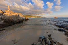 橙色海滩 Chalkidiki,希腊 库存照片