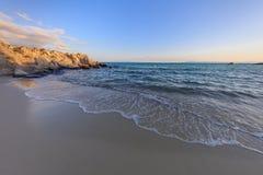橙色海滩 Chalkidiki,希腊 库存图片