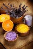 橙色淡紫色的矿物 免版税库存图片