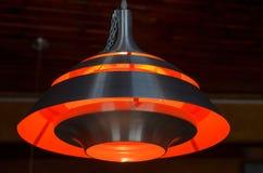 橙色灯散发一种好的看的颜色 库存照片
