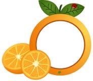 橙色照片框架 库存例证