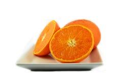 橙色牌照片式 库存图片
