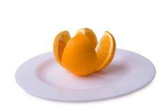 橙色牌照 免版税库存图片