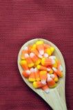 橙色牙糖果 库存照片