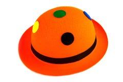 橙色狂欢节帽子 免版税库存照片