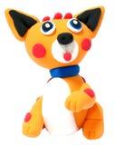 橙色狐狸玩具逗人喜爱的玩具 库存照片