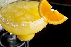 橙色玛格丽塔酒鸡尾酒细节  库存图片