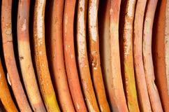橙色瓦屋顶 免版税图库摄影