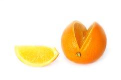 橙色甜点 免版税库存照片