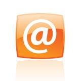橙色电子邮件 免版税库存照片