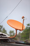 橙色电视接收器 图库摄影