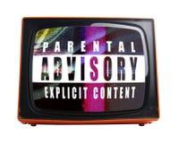 橙色电视 库存图片