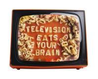 橙色电视 库存照片