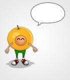 橙色男孩 免版税库存照片
