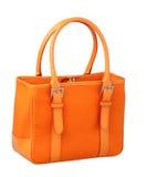 橙色画布夫人手袋 图库摄影